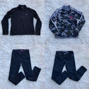 4pc Girls Sz 12 Lot Jeans, Sweatshirt Jacket Pllvr